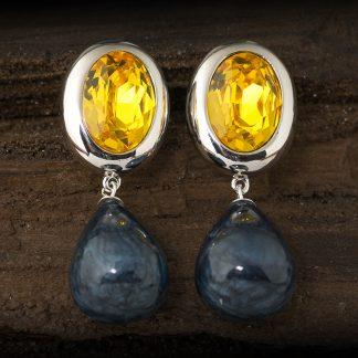 """Metallfassung oval aus Zinn """"Silber"""" platiniert Größe: oval 2,5 cm x 2 cm nickelfrei designed by Nathalie Bellini"""