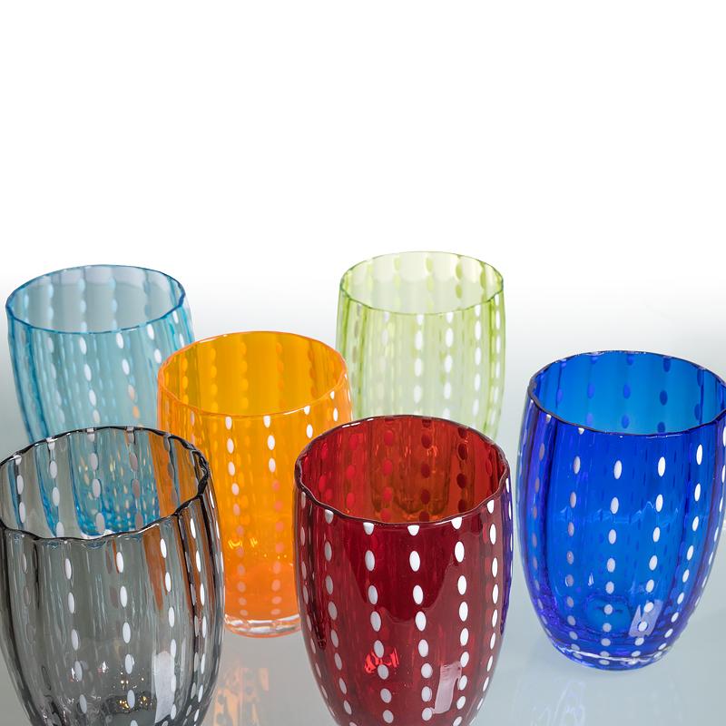 Zafferano Trinkglaser Perle Aus Italien